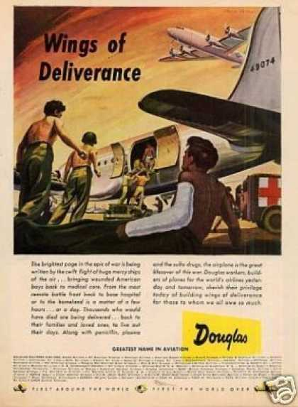 "Douglas Aviation Ad ""Wings of Deliverance... (1945)"