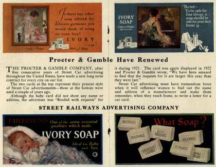 Procter & Gamble Co.'s Ivory Soap – Procter & Gamble Have Renewed (1925)