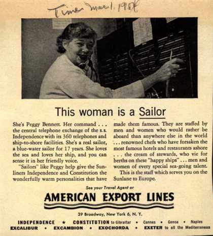 American Export Lines – This woman is a Sailor (1954)
