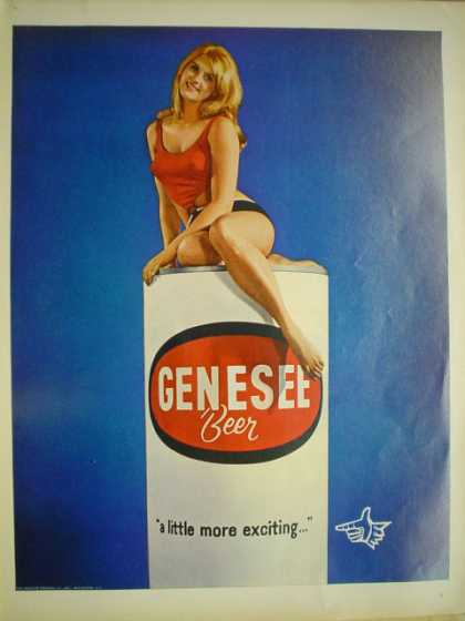 Genesee Beer A little more exciting Model on can (1968)