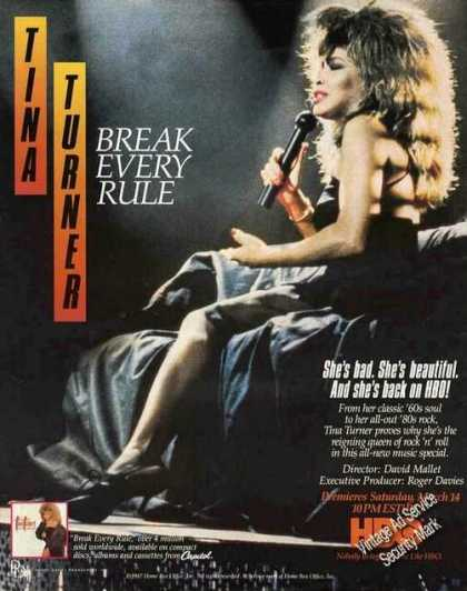 "Tina Turner Photo ""Break Every Rule"" (1987)"