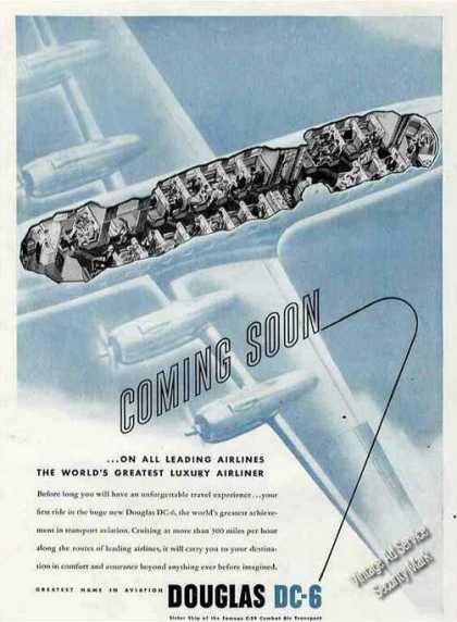 Douglas Dc-6 Coming Soon Pre-production (1946)