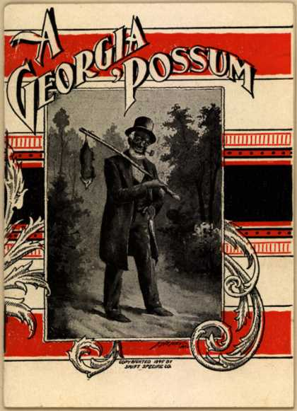 Swift Specific Co.'s S.S.S. (for the blood) – A Georgia Possum (1895)