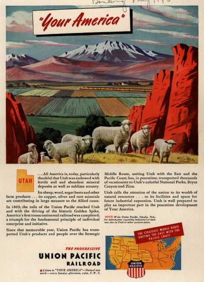 "Union Pacific Railroad's Middle Route – ""Your America"" Utah (1945)"
