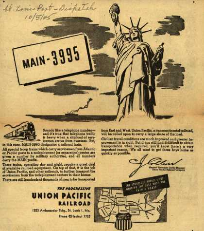 Union Pacific Railroad's Troop Travel – MAIN-3995 (1945)