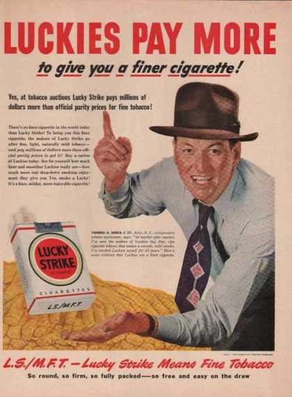 Lucky Strike Cigarette Thomas Jones (1949)