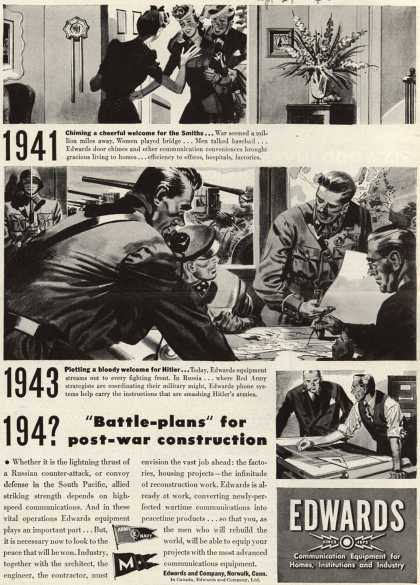 "Edwards and Company's Company – 194? ""Battle-plans"" for post-war construction (1943)"
