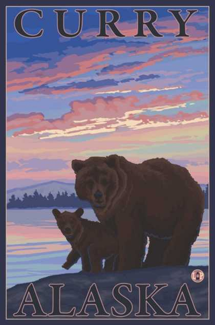 Bear and Cub, Curry, Alaska
