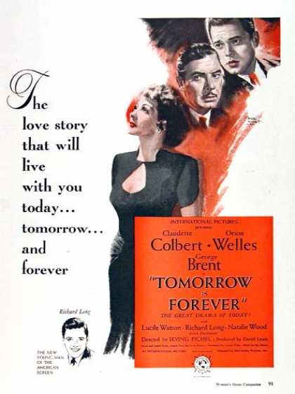 "RKO ""Tomorrow is Forever"" (1946)"