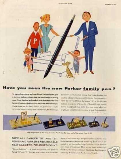 Parker Pen Ad &quot;Have You Seen... (1953)