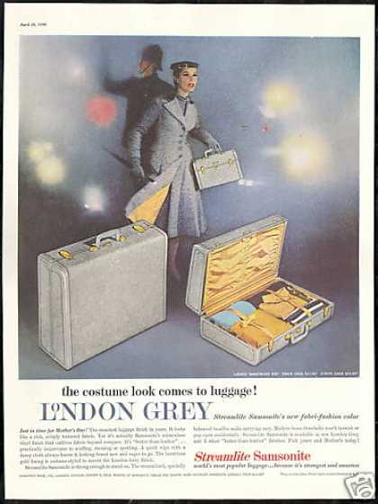 Samsonite London Grey Streamlite Luggage Photo (1956)