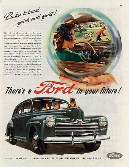 "Ford Car Ad ""Brakes To Trust... (1946)"