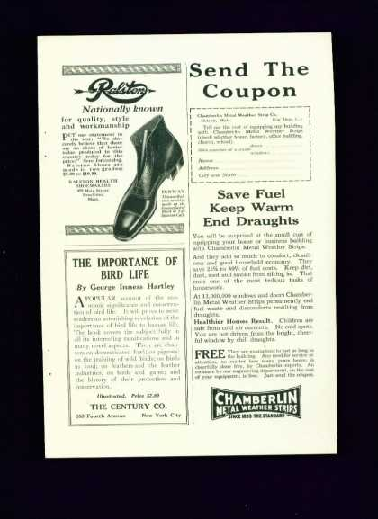 Ralston Health Shoemakers Fenway Model C 1/4 Pg (1922)