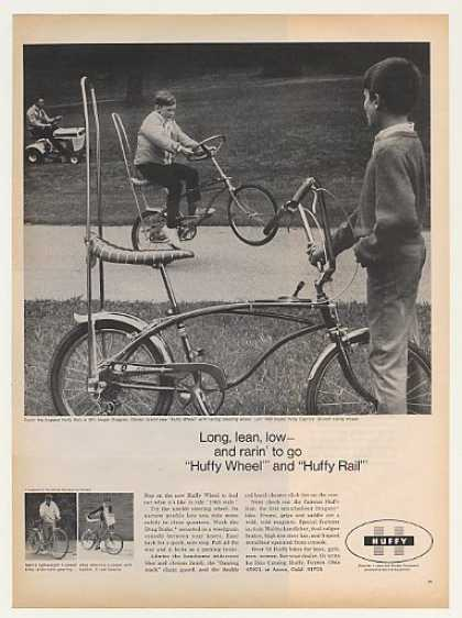 Huffy Wheel and Rail Bicycles Bikes (1968)