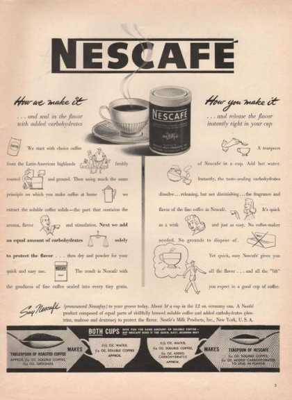 Nescafe Coffee How We Make It (1942)
