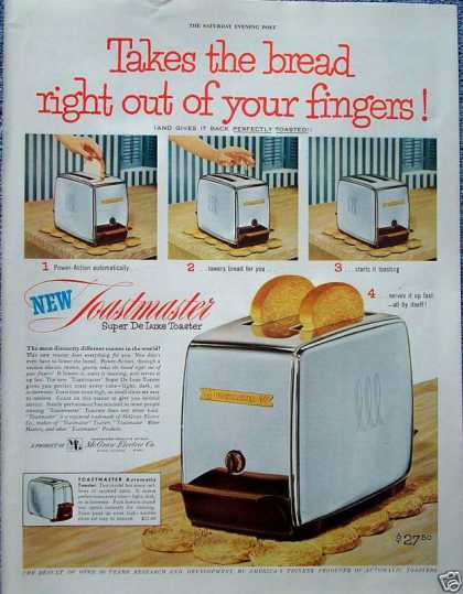 Toastmaster Super De Luxe Toaster Takes Bread (1953)