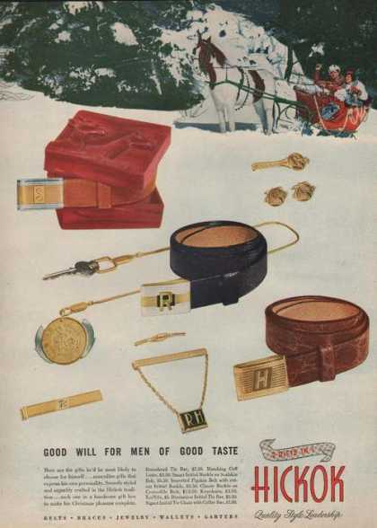 Hickok Belts Braces Jewelry (1946)