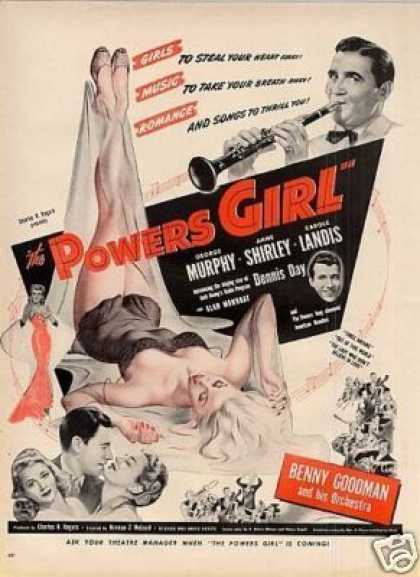 "Movie Ad ""The Powers Girl"" Anne Shirley (1943)"