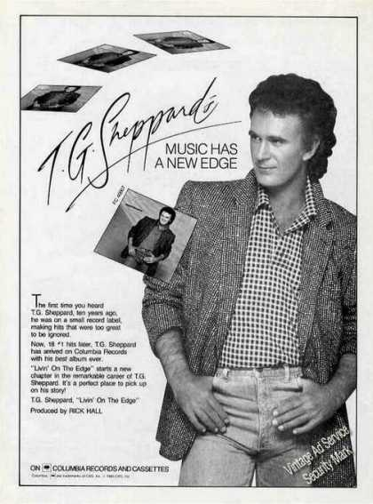 "T G Sheppard ""Livin' On the Edge"" Album Promo (1985)"