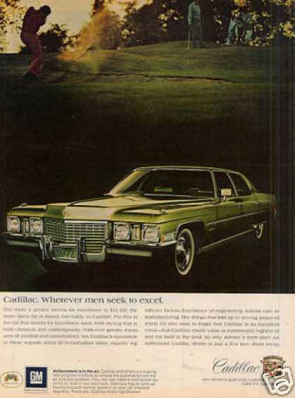 "Cadillac Car Ad ""Wherever Men Seek... (1972)"