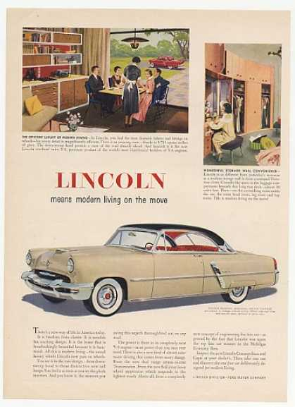 Lincoln Capri 2-Door Modern Living on the Move (1952)