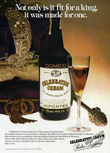 Pedro Domecq Sherry Spain Celebration Creme (1977)