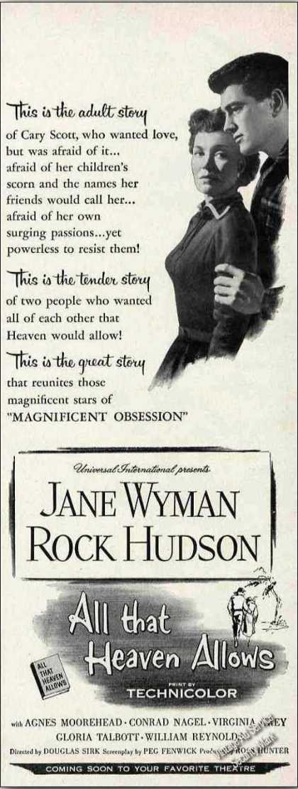 Jane Wyman/rock Hudson All That Heaven Allows (1955)