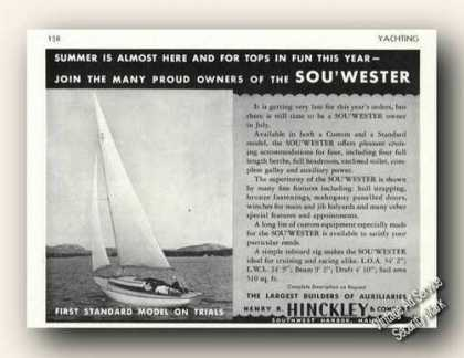 Hinckley Sou'wester 34 Photo Antique Boat (1947)