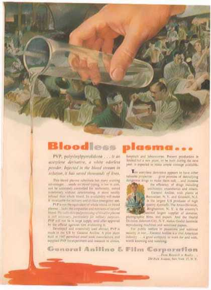 Agfa General Aniline & Film Corporation – Bloodless Plasma – Sold (1951)