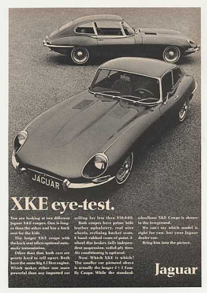Jaguar XKE 2+2 Family Coupe Eye Test Photo (1968)