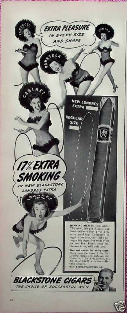 Blackstone Cigars Sexy Showgirls Extra Pleasure (1942)