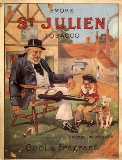 St Julien, Cigarettes Smoking, Wooden Leg Disabilities, UK (1890)