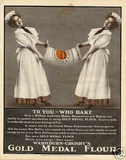 "Gold Medal Flour Color Ad ""To You Who Bake... (1908)"
