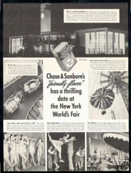 New York World's Fair Chase & Sanborn Coffee (1940)