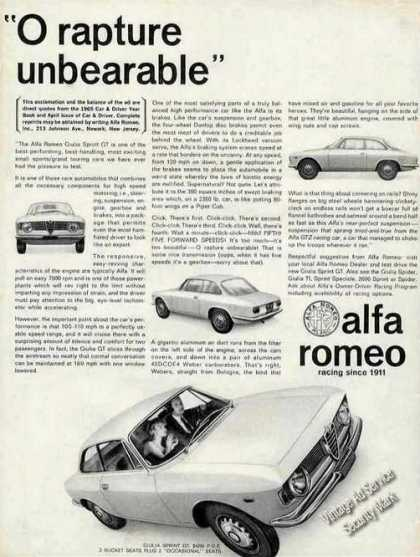 "Alfa Romeo Giulia Sprint ""O Rapture Unbearable"" (1965)"