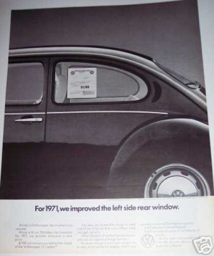Vw Volkswagen Beetle Bug for 71 Car (1970)