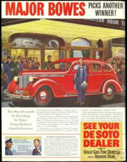 Major Bowes Amateur Hour Desoto De Soto Car (1938)
