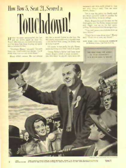 New York Life Insurance – Scored a Touchdown (1949)