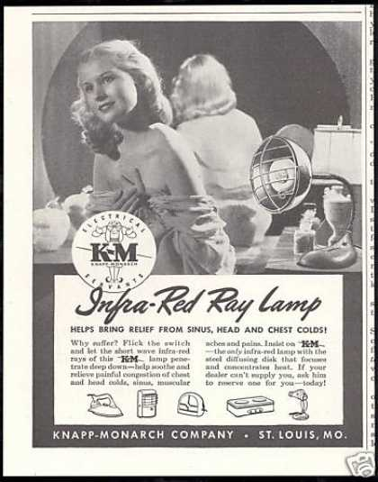 Knapp Monarch K&M Infra Red Ray Lamp (1946)