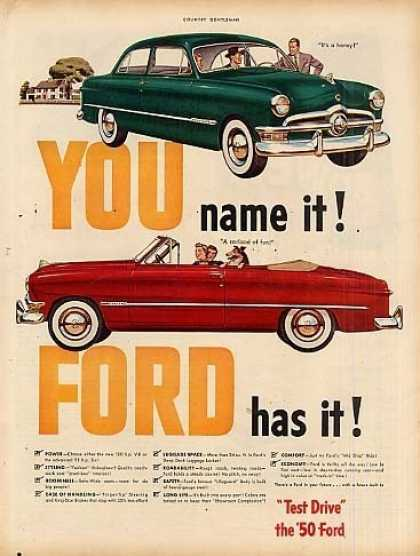 "Ford Car Ad ""You Name It... (1950)"