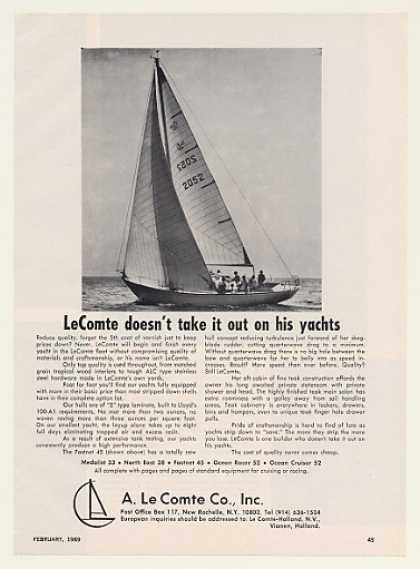 Le Comte Fastnet 45 Sailboat Boat Photo (1969)