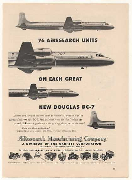 Douglas DC-7 Aircraft AiResearch (1953)
