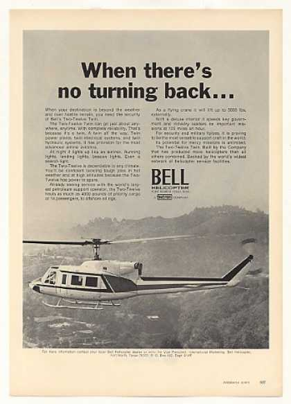 Bell Two-Twelve Twin Helicopter Photo (1971)