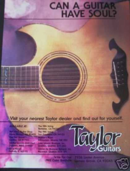 Taylor Guitars Have Soul Print Art (1979)