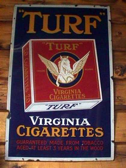 Turf Virginia Cigarettes Sign