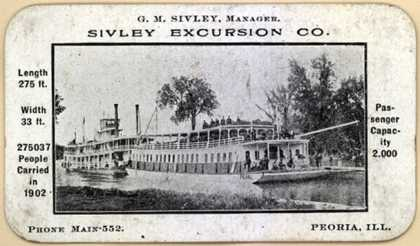 Sivley Excursion Co.'s steamboat travel – Sivley Excursion Co.