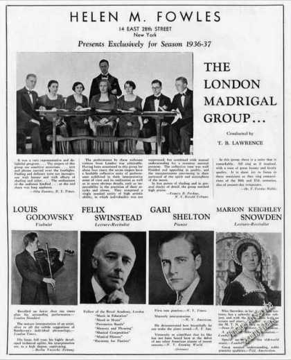 The London Madrigal Group Photo Trade (1936)