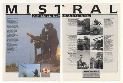 Matra Defense MISTRAL Missile Systems (1988)