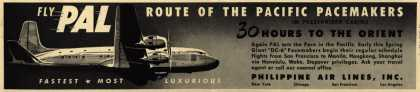 Philippine Air Line's Orient – Fly PAL Route of the Pacific Pacemakers (1948)