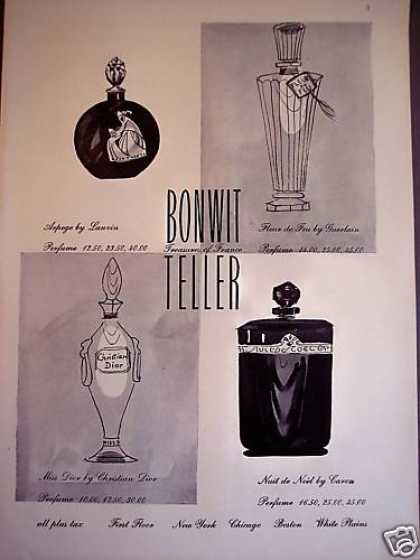 Perfume Bottle Art Bonwit Teller (1950)
